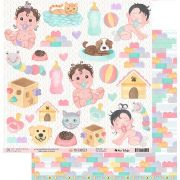 Papel Scrap - My Children - Coleção My Family - My Memories Crafts (MMCMF-04)