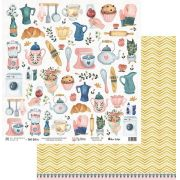 Papel Scrap - My Kitchen - Coleção My Home - My Memories Crafts (MMCMHO-02)
