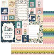 Papel Scrap - My Home Sweet Home - Coleção My Home - My Memories Crafts (MMCMHO-04)