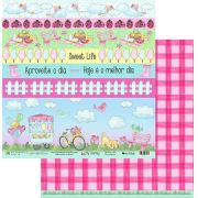 Papel Scrap - My Outdoor - Coleção My Journey - My Memories Crafts (MMCMJ-02)