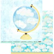 Papel Scrap - My Head on the Clouds - Coleção My Journey - My Memories Crafs (MMCMJ-05)