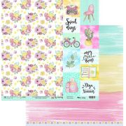 Papel Scrap - My Routine - Coleção My Journey - My Memories Crafts (MMCMJ-11)