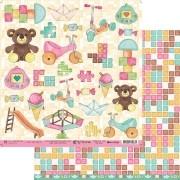 Papel Scrap - My Toys - Coleção My Memories - My Memories Crafts (MMCMM-03)