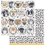 Papel Scrap - My Dog - Coleção My Pets - My Memories Crafts (MMCMP-01)