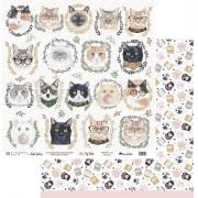 Papel Scrap - My Cat - Coleção My Pets - My Memories Crafts (MMCMP-02)
