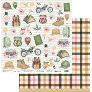 Papel Scrap - My Road Trip - Coleção My Travel - My Memories Crafts (MMCMT-02)