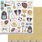 Papel Scrap - My Boy's Wall - Coleção My Wall - My Memories Crafts (MMCMWA-02)