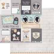 Papel Scrap - My Famillys Cards - Coleção My Wall - My Memories Crafts (MMCMWA-04)