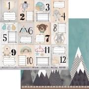 Papel Scrap - My Babys Cards - Coleção My Wall - My Memories Crafts (MMCMWA-05)