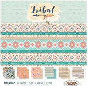 Bloco de Papéis Coordenados - Mini Scrap 15 x 15 - Tribal - Arte Fácil (MS-012)