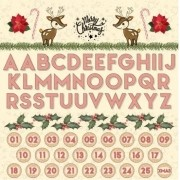 Papel Scrap - Alfabeto e Advento - Coleção Chegou o Natal - Goodies (PP198)