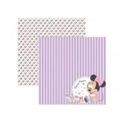 Papel Scrap - Baby Minnie 2 Paisagem - Disney - Toke e Crie (19321)