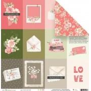 Papel Scrap - Cartas para Ela - Coleção Cartas para Você - JuJu Scrapbook (11515)