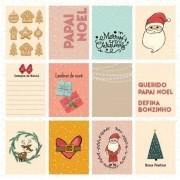 Papel Scrap - Desejos de Natal - Coleção Chegou o Natal - Goodies (PP199)
