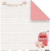 Papel Scrap - Entrega Especial - Coleção Cartas para Você - JuJu Scrapbook (11517)