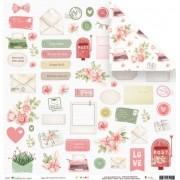 Papel Scrap - Enviado com Amor - Coleção Cartas para Você - JuJu Scrapbook (11519)
