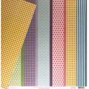Papel Scrap - Barras - Coleção Feliz Aniversário - Oficina do Papel (0175400)