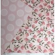 Papel Scrap - Floral Chique - Rosa - Oficina do Papel (0181300)