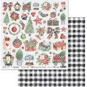 Papel Scrap - My Memories From Christmas 01 - My Memories Craft (MMCMMC-01)