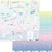 Papel Scrap - Todo Dia - Coleção Urban Life - It Lov
