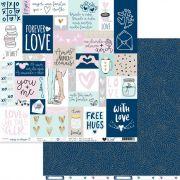 Papel Scrap - Você e Eu - Coleção Coisas do Coração - It Lov