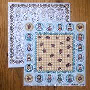 Papel Scrap - Toalhinha - Coleção Matrioshka - Goodies (PP041)