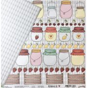Papel Scrap - Jelly & Jar - Coleção Kitchen & Co - Goodies (PP135)