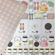 Papel Scrap - Salt & Pepper - Coleção Kitchen & Co - Goodies (PP137)