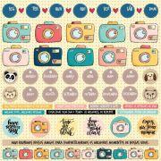 Papel Scrap - Foto click - Coleção Love this - Goodies (PP140)