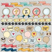 Papel Scrap - Banners - Coleção Love this - Goodies (PP141)