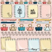 Papel Scrap - Planner - Coleção Love this - Goodies (PP143)