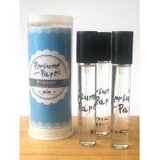 Perfume para papel com 3 aromas (15 ml cada) - Lord, Gold, Para Sempre (Kit Requinte|PP1564)