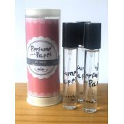 Perfume para papel com 3 aromas (15 ml cada) - Frescor da Manhã, Romance, Era Uma vez (Kit Amor|PP1566)