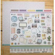 Papel Scrap - Criatividade - Coleção Nossa História - Goodies (PP159)
