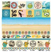 Papel Scrap - Praia e Mar - Coleção Ah, o verão! - Goodies (PP164)
