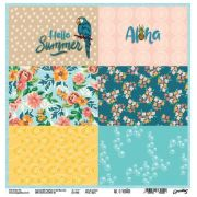 PP166 - Papel Aloha - Coleção Ah, o verão! - Goodies