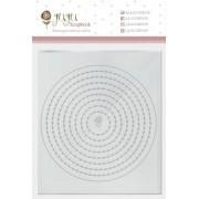 Regua de Costura Círculos - Coleção Cartas para Você - JuJu Scrapbook (11535)