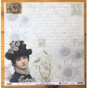 Papel Scrap - Vintage Ladies 3 - Arte Fácil (SC-080)