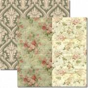 Papel Scrap - Floral duplo - Arte Fácil (SC-121)