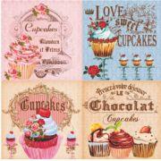 Papel Scrap - Cupcakes - Arte Fácil (SC-236)