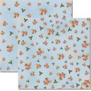 Papel scrap - Flores Miúdas 1 - Arte Fácil (SC-247)