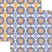 Papel scrap - Azulejo Hidráulico 5 - Arte Fácil (SC-301)