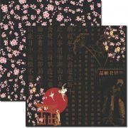Papel scrap - Oriental 4 - Arte Fácil (SC-333)