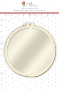 Shaker Box Chipboard Branco Bastidor - Colecao Quarentena Criativa - Juju Scrapbook (108059)