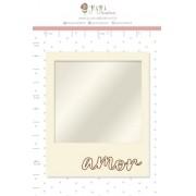 Shaker Box Chipboard Branco Polaroid - Coleção Cartas para Você - JuJu Scrapbook (11639)