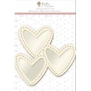 Shaker Box Chipboard Branco Trio de Amor - Coleção Cartas para Você - JuJu Scrapbook (11641)