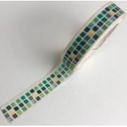 Washi Tape Ladrilhos verdes (washi62)