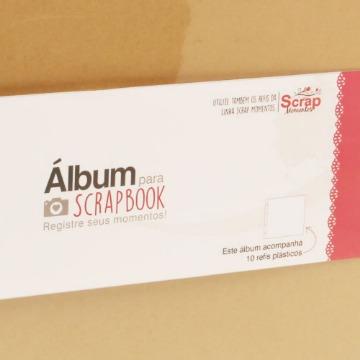 Álbum para Scrapbook Grande (37 x 38,5 x 5 cm) - Preto e Kraft - Scrap Momentos - Toke e Crie (TC19585)