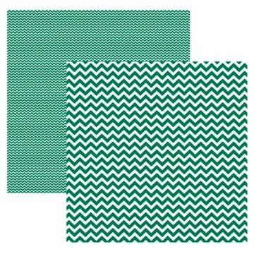 Papel Scrap - Chevron Verde (KFSB410) - Toke e Crie (19951)
