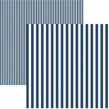 19973 - Papel Scrap - Listras Azul Marinho (KFSB432) - Toke e Crie
